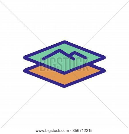 Soft Layer Icon Vector. Soft Layer Sign. Color Isolated Symbol Illustration