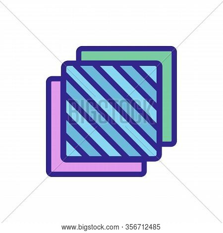Three Layers Icon Vector. Three Layers Sign. Color Isolated Symbol Illustration