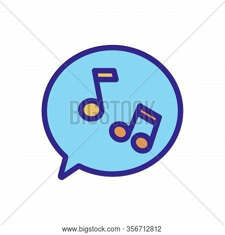 The Sound Of Melody Icon Vector. The Sound Of Melody Sign. Color Isolated Symbol Illustration