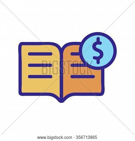To Buy The Book Icon Vector. To Buy The Book Sign. Color Isolated Symbol Illustration