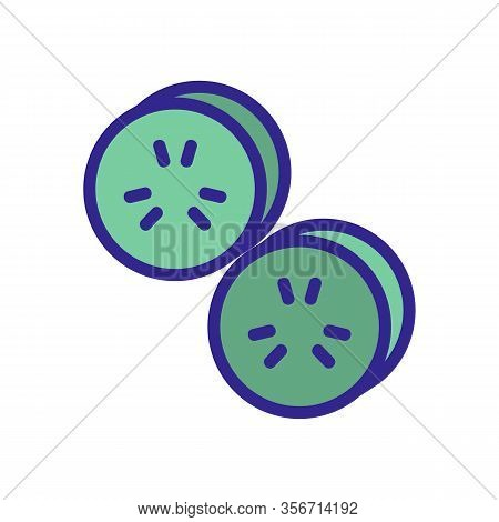 Salad Cucumber Icon Vector. Salad Cucumber Sign. Color Isolated Symbol Illustration