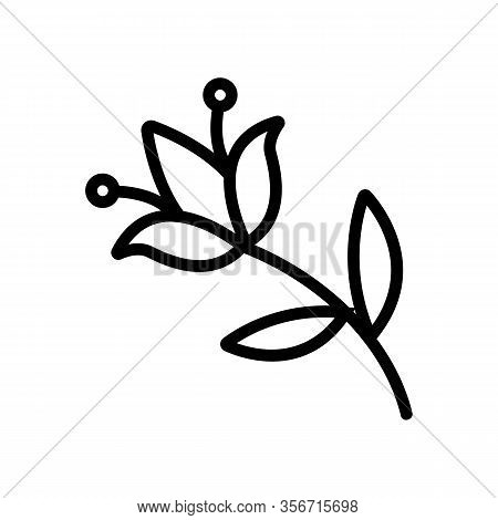 Flower Pest Icon Vector. Flower Pest Sign. Isolated Contour Symbol Illustration
