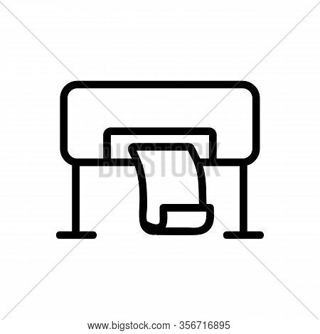 Large Format Printing Icon Vector. Large Format Printing Sign. Isolated Contour Symbol Illustration