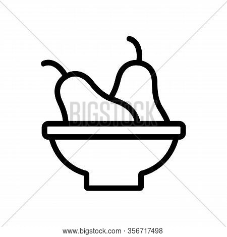 Pear Salad Icon Vector. Pear Salad Sign. Isolated Contour Symbol Illustration