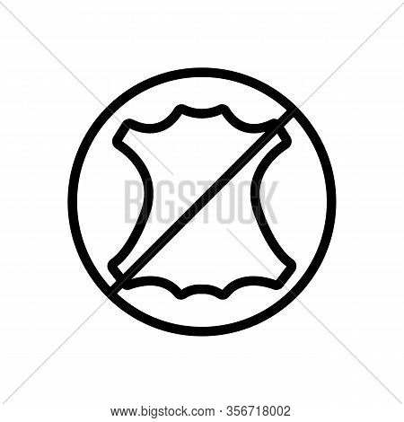 Does Not Contain The Skin Icon Vector. Does Not Contain The Skin Sign. Isolated Contour Symbol Illus