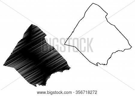 Tadjourah Region (republic Of Djibouti, Horn Of Africa, Gulf Of Aden) Map Vector Illustration, Scrib