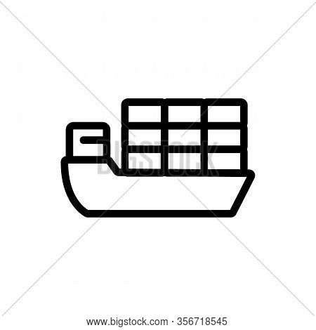Ship The Goods Export Icon Vector. Ship The Goods Export Sign. Isolated Contour Symbol Illustration