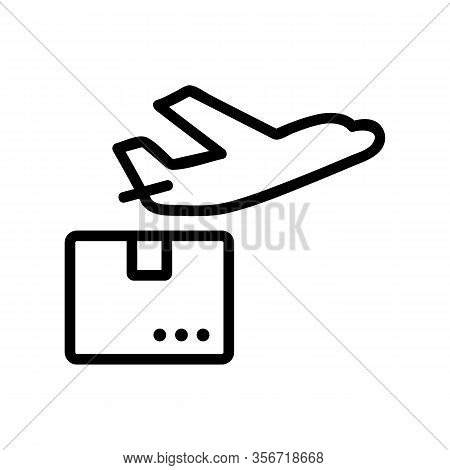 The Plane Sending Icon Vector. The Plane Sending Sign. Isolated Contour Symbol Illustration