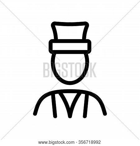 Turkish Man Icon Vector. Turkish Man Sign. Isolated Contour Symbol Illustration