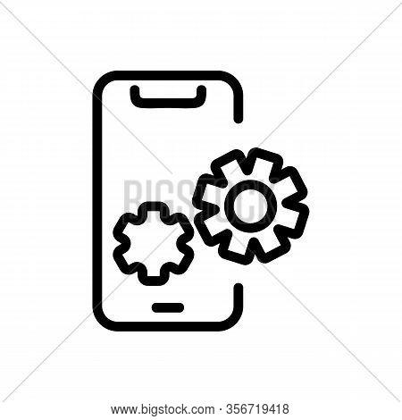 Phone Setup Icon Vector. Phone Setup Sign. Isolated Contour Symbol Illustration