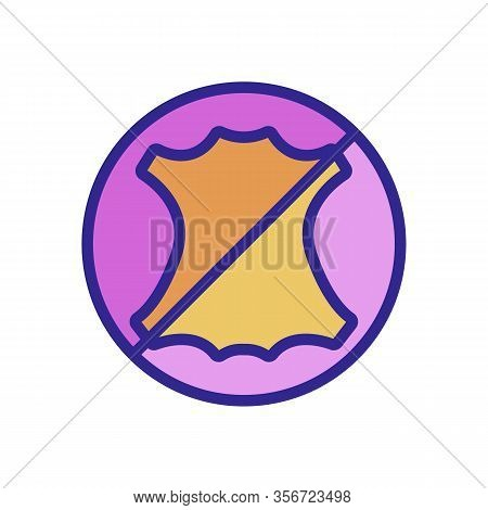 Does Not Contain The Skin Icon Vector. Does Not Contain The Skin Sign. Color Isolated Symbol Illustr