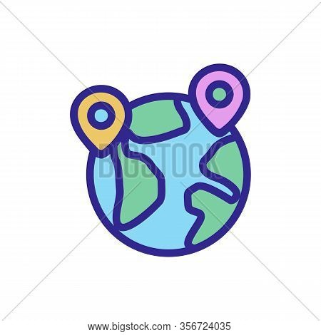 Exports On The Planet Icon Vector. Exports On The Planet Sign. Color Isolated Symbol Illustration