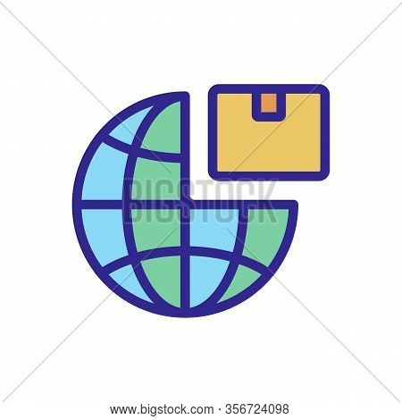 Export Planet Product Icon Vector. Export Planet Product Sign. Color Isolated Symbol Illustration