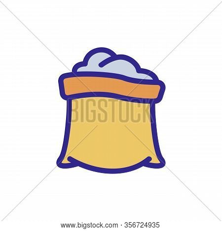 Compost Bag Icon Vector. Compost Bag Sign. Color Isolated Symbol Illustration
