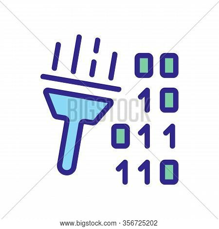 Cleaning Harmful Code Icon Vector. Cleaning Harmful Code Sign. Color Isolated Symbol Illustration