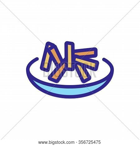 Carrot Salad Icon Vector. Carrot Salad Sign. Color Isolated Symbol Illustration