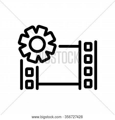 Setup Video Icon Vector. Setup Video Sign. Isolated Contour Symbol Illustration