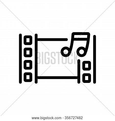 Audio Installation Icon Vector. Audio Installation Sign. Isolated Contour Symbol Illustration