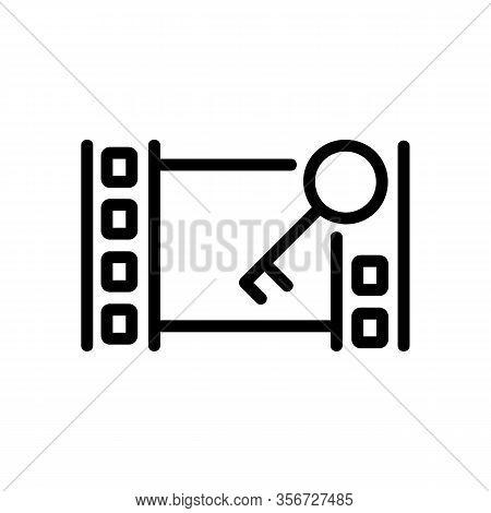 Installation Video Icon Vector. Installation Video Sign. Isolated Contour Symbol Illustration