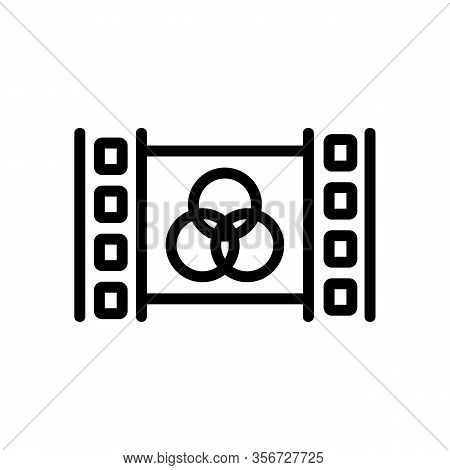 Video Editor Icon Vector. Video Editor Sign. Isolated Contour Symbol Illustration