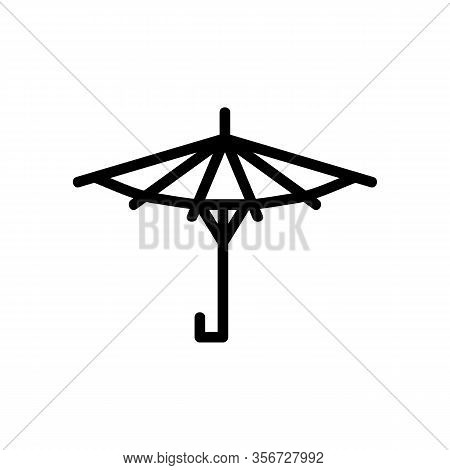 Shade Umbrella Icon Vector. Shade Umbrella Sign. Isolated Contour Symbol Illustration