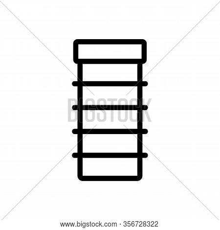Convenient Shelf Icon Vector. Convenient Shelf Sign. Isolated Contour Symbol Illustration