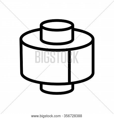 Wide Roll Icon Vector. Wide Roll Sign. Isolated Contour Symbol Illustration