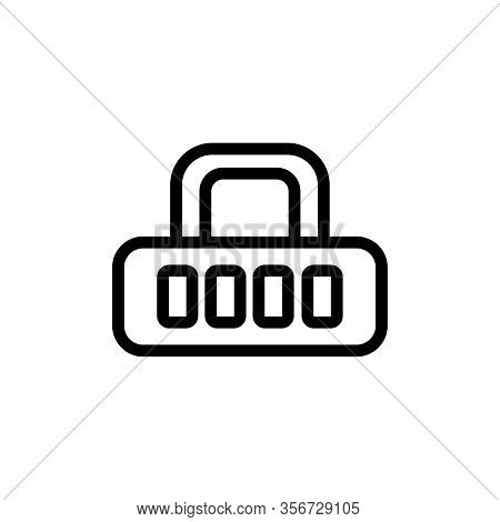 Password Cipher Icon Vector. Password Cipher Sign. Isolated Contour Symbol Illustration