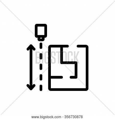 The Size Of The Drawing Flats Icon Vector. The Size Of The Drawing Flats Sign. Isolated Contour Symb