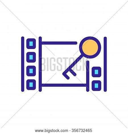 Installation Video Icon Vector. Installation Video Sign. Color Isolated Symbol Illustration
