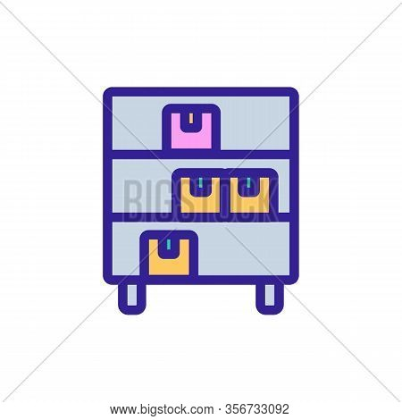 Commodity Shelf Icon Vector. Commodity Shelf Sign. Color Isolated Symbol Illustration