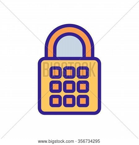 Password Lock Icon Vector. Password Lock Sign. Color Isolated Symbol Illustration