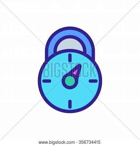 Password Combination Lock Icon Vector. Password Combination Lock Sign. Color Isolated Symbol Illustr
