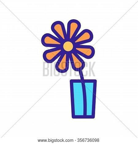 Fragrant Chrysanthemum Icon Vector. Fragrant Chrysanthemum Sign. Color Isolated Symbol Illustration