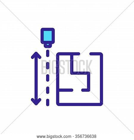 The Size Of The Drawing Flats Icon Vector. The Size Of The Drawing Flats Sign. Color Isolated Symbol
