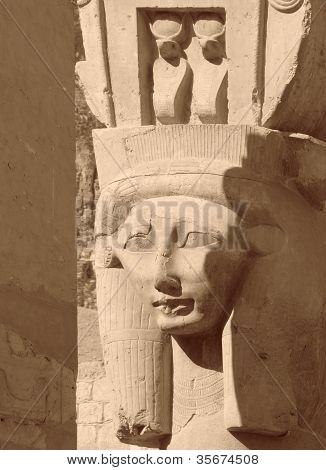 Hathor Sculpture Detail