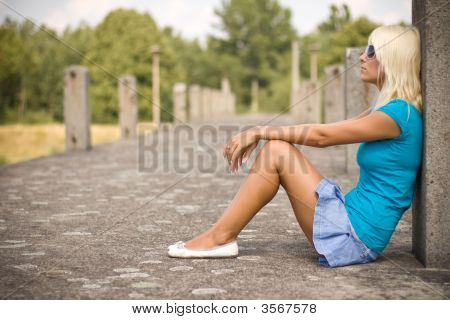 Blond Girl Relaxing