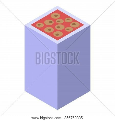 Turkish Sweets Icon. Isometric Of Turkish Sweets Vector Icon For Web Design Isolated On White Backgr