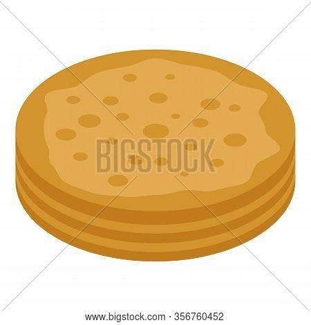 Turkish Pancake Icon. Isometric Of Turkish Pancake Vector Icon For Web Design Isolated On White Back