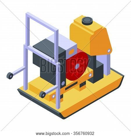 Gasoline Generator Icon. Isometric Of Gasoline Generator Vector Icon For Web Design Isolated On Whit