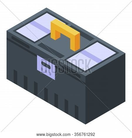 Construction Toolbox Icon. Isometric Of Construction Toolbox Vector Icon For Web Design Isolated On