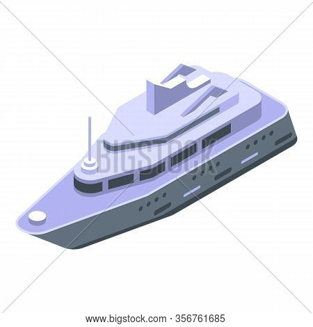Yacht Boat Icon. Isometric Of Yacht Boat Vector Icon For Web Design Isolated On White Background