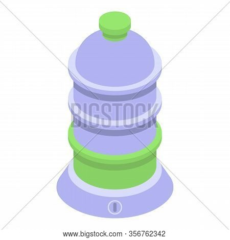 Steamer Equipment Icon. Isometric Of Steamer Equipment Vector Icon For Web Design Isolated On White