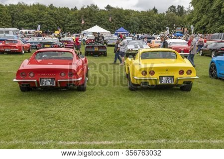 Tatton Park, Cheshire, England - July 6 2019: American Car At The Stars & Stripes American Car Show