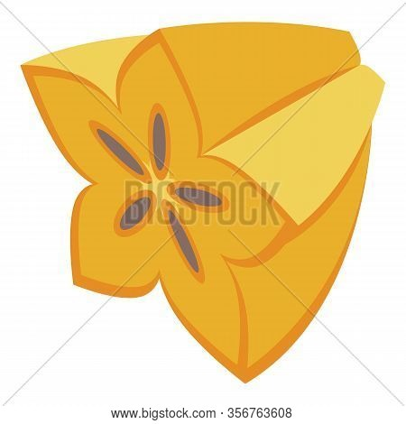 Half Carambola Icon. Isometric Of Half Carambola Vector Icon For Web Design Isolated On White Backgr