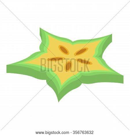 Slice Carambola Icon. Isometric Of Slice Carambola Vector Icon For Web Design Isolated On White Back
