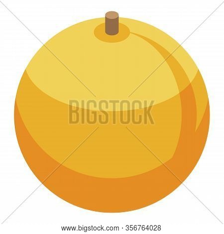 Whole Apricot Icon. Isometric Of Whole Apricot Vector Icon For Web Design Isolated On White Backgrou