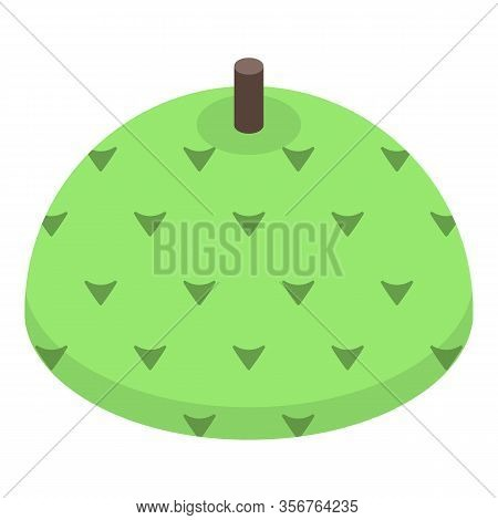 Soursop Fruit Icon. Isometric Of Soursop Fruit Vector Icon For Web Design Isolated On White Backgrou