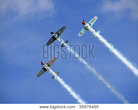 The Great Britain Aerobatic Display Team The Yakovlevs