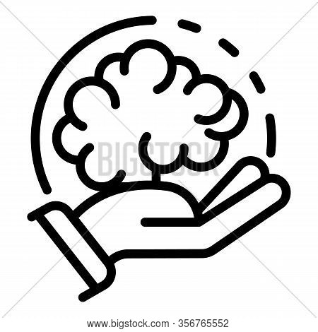 Brainstorming Innovation Icon. Outline Brainstorming Innovation Vector Icon For Web Design Isolated